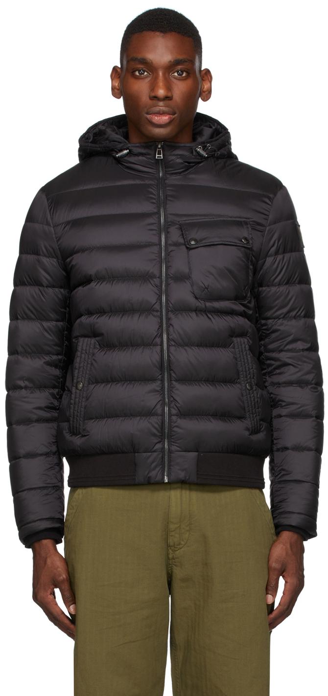 Black Down Streamline Jacket