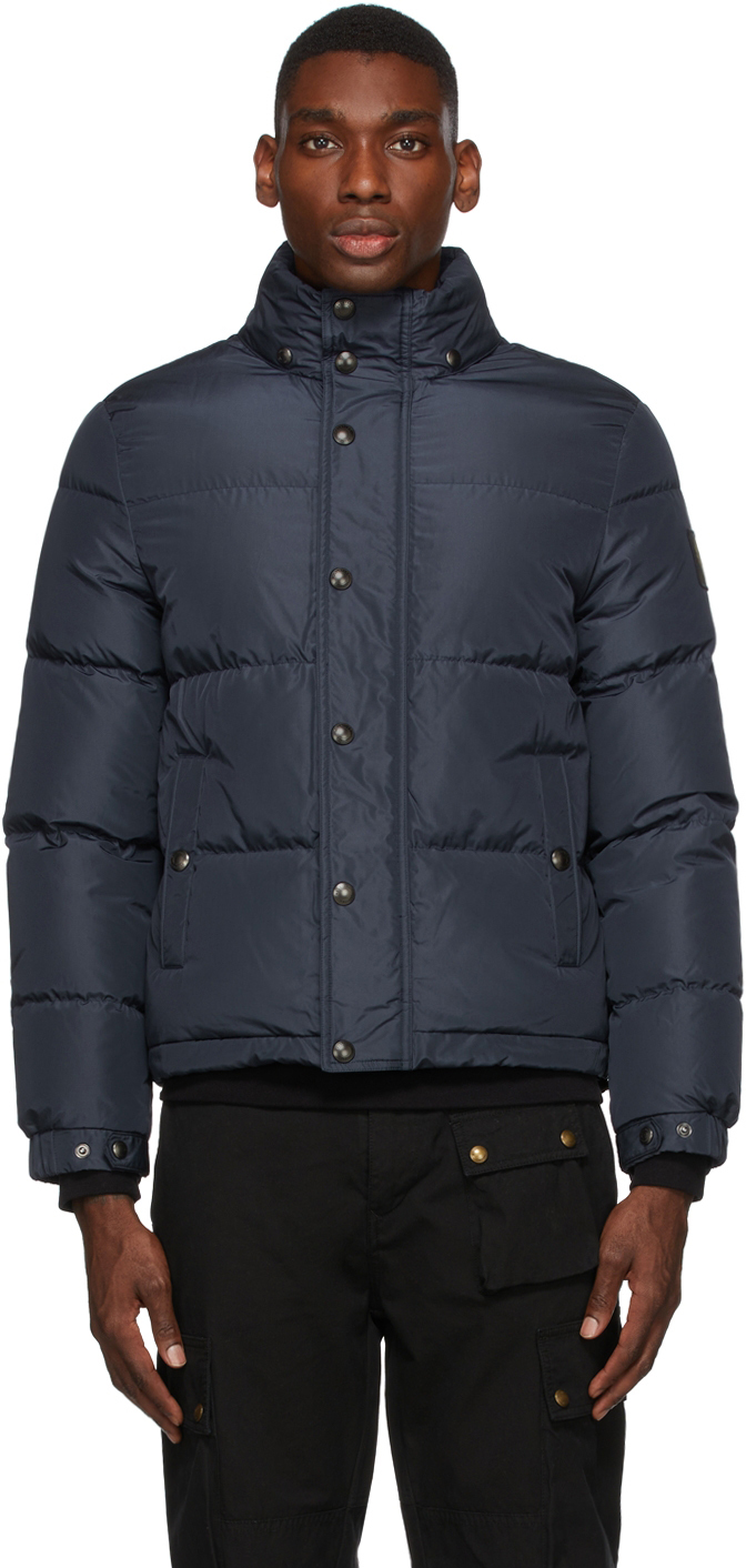 Navy Down Dome Solid Jacket