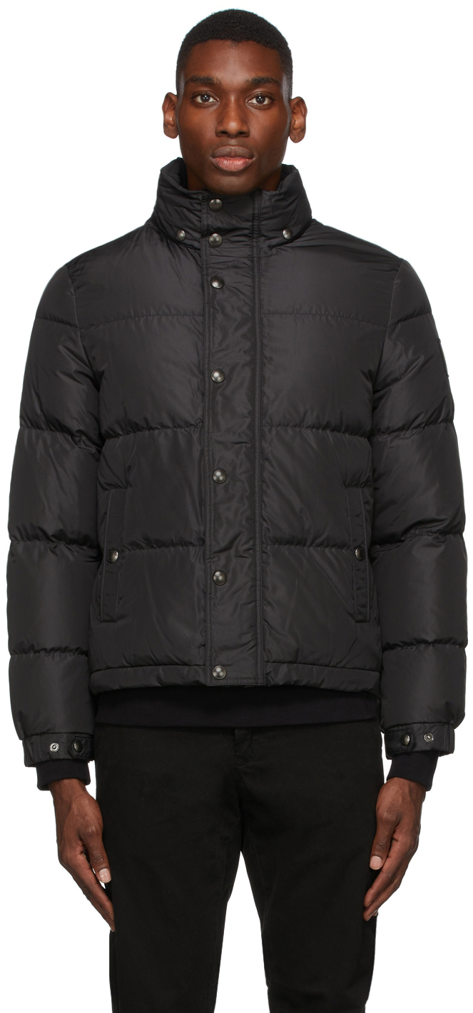 Black Down Dome Solid Jacket