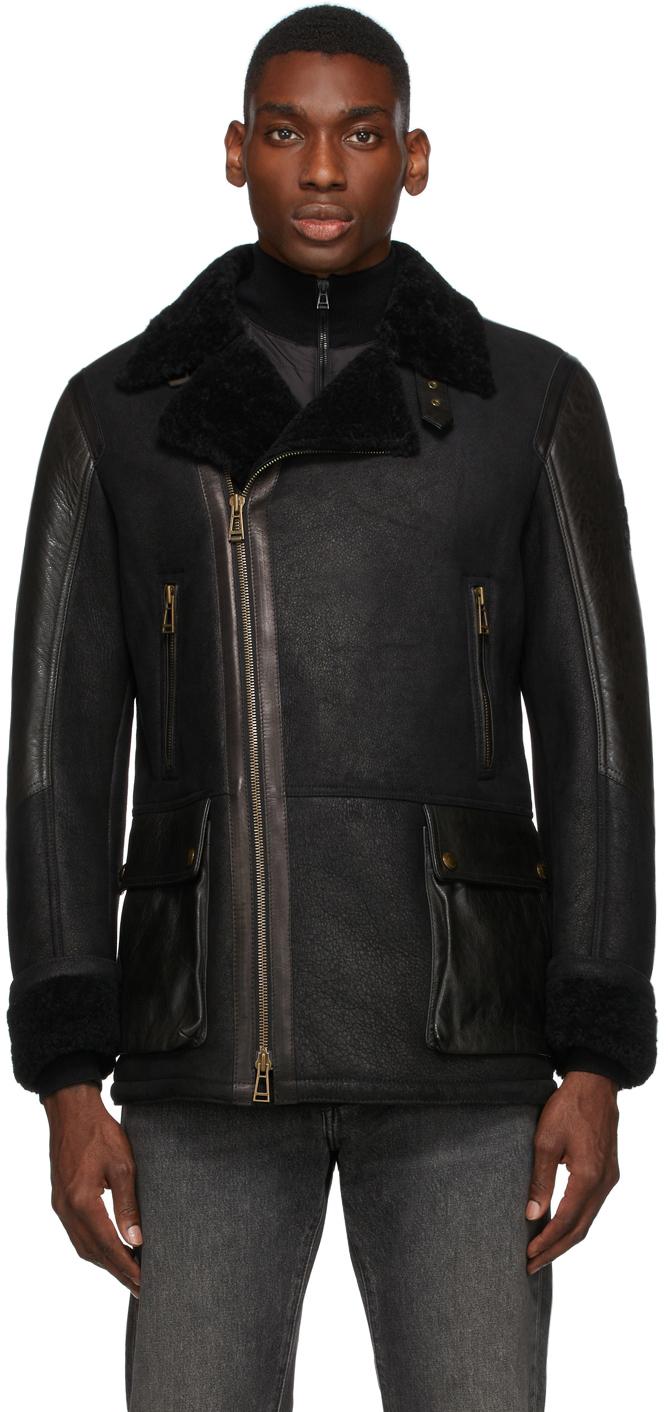 Black Shearling Dennison Coat