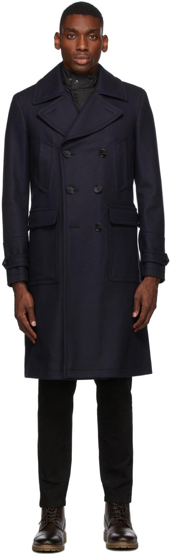 Navy Wool New Milford Coat