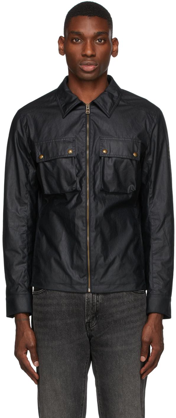 Navy Waxed Dunstall Jacket