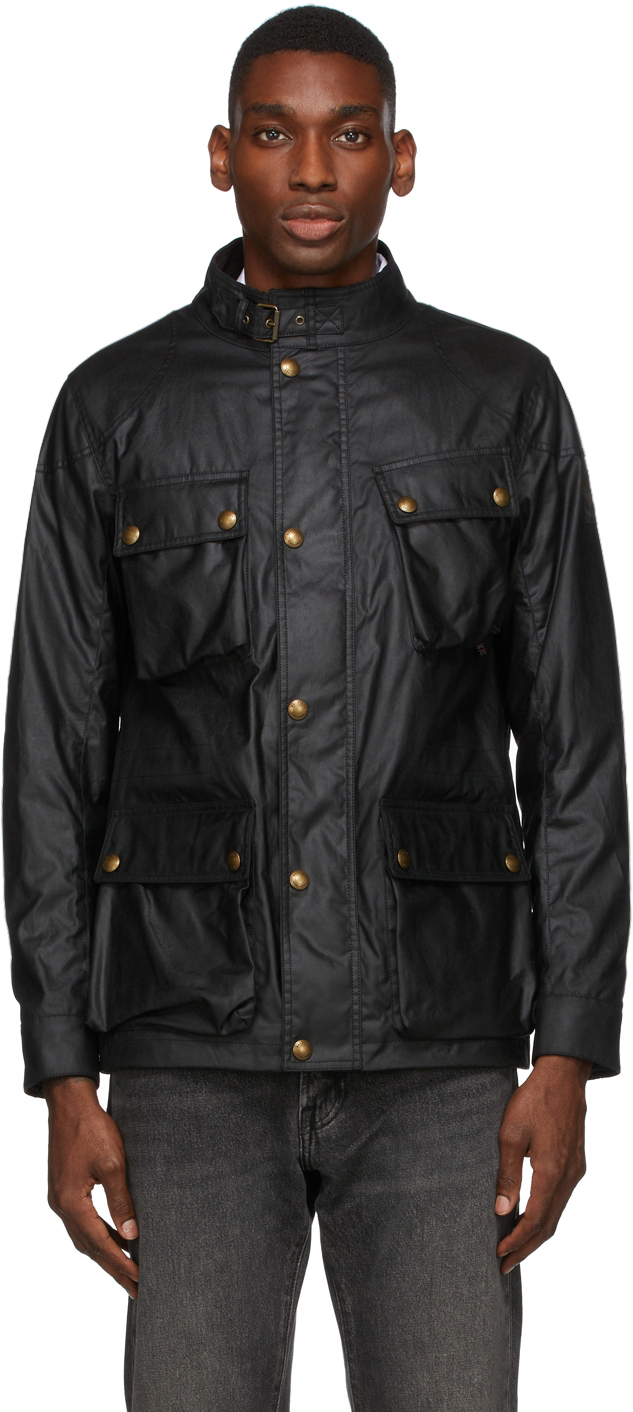 Black Waxed Fieldmaster Jacket
