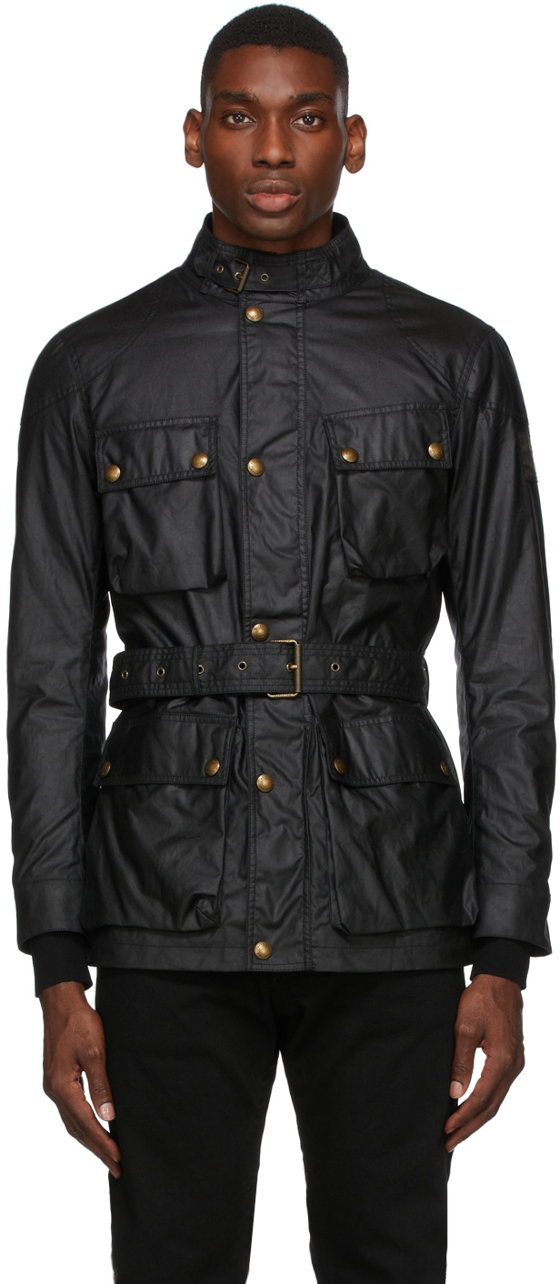 Black Waxed Trialmaster Jacket