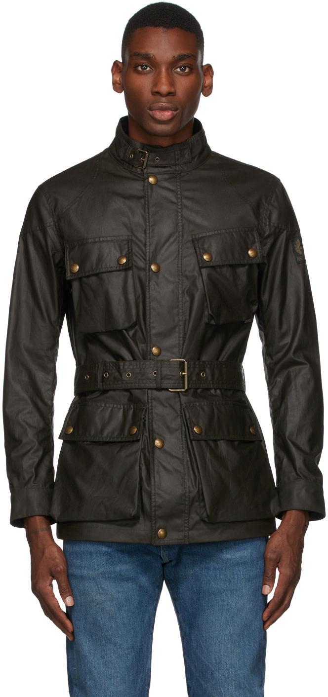 Khaki Waxed Trialmaster Jacket