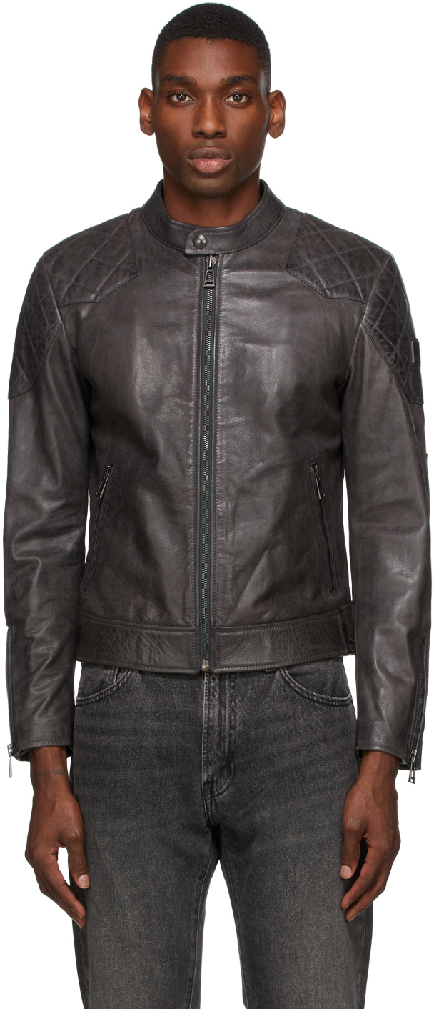 Grey Leather Outlaw 2.0 Jacket