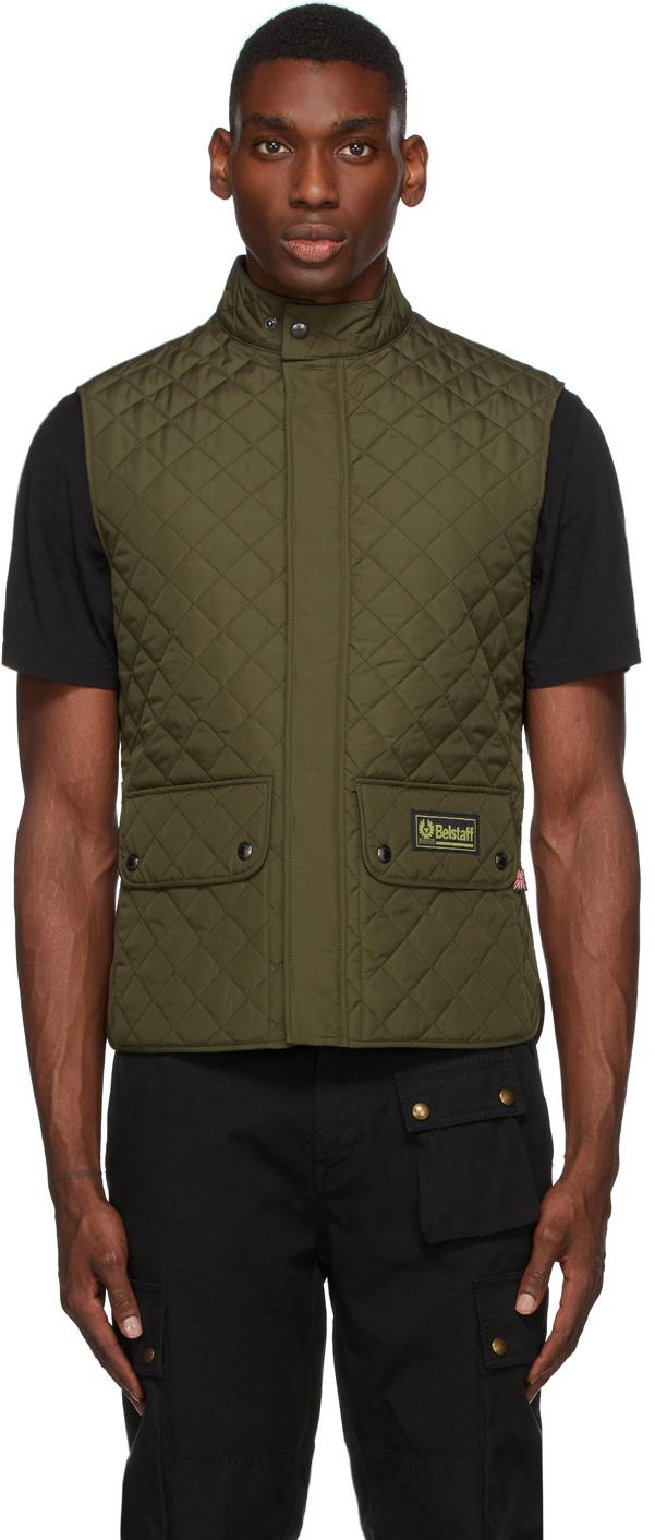 Khaki Quilted Waistcoat Vest
