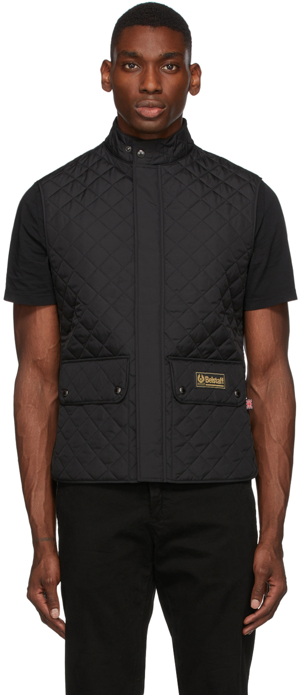 Black Quilted Waistcoat Vest
