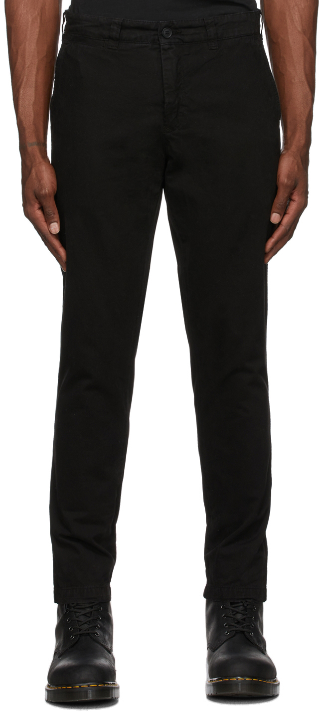 Black Officers Chino Trousers