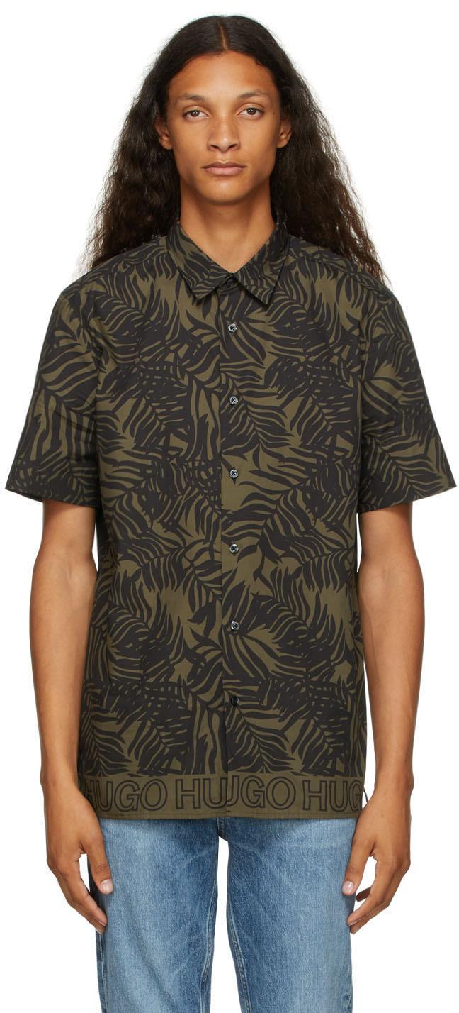 Black & Khaki Ebor Shirt