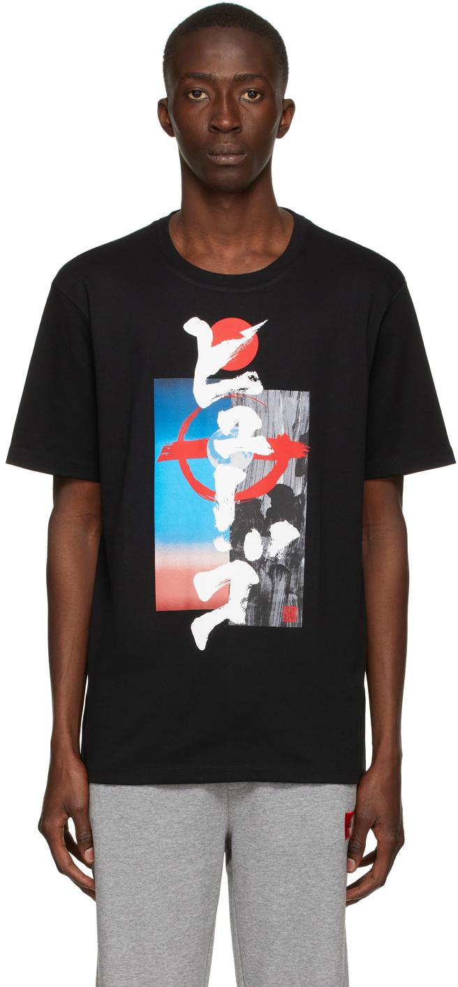 Black Graphic Damurai T-Shirt