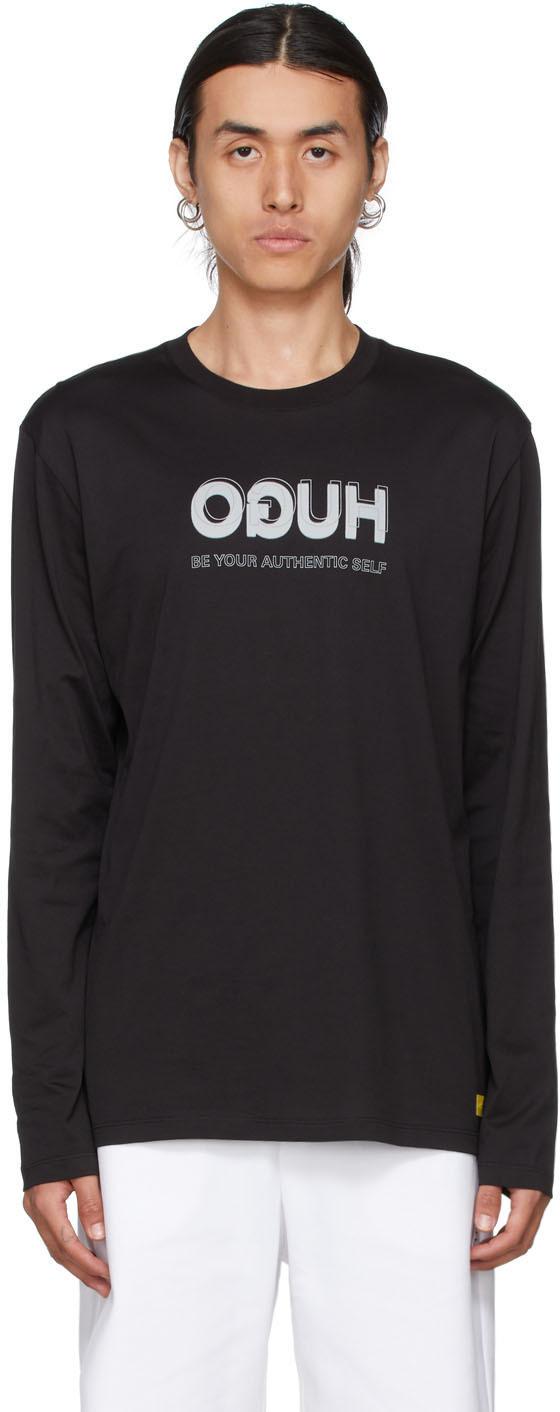 Black Smiley Edition Reversed Logo Long Sleeve Shirt