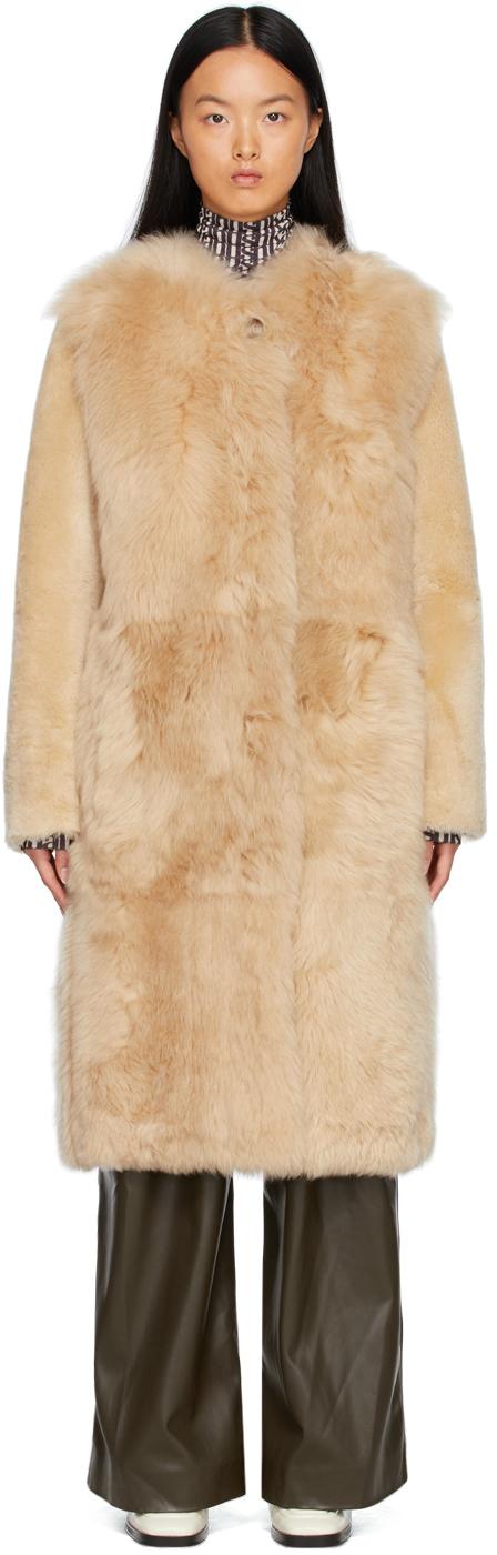 Beige Fur Sofesa Coat