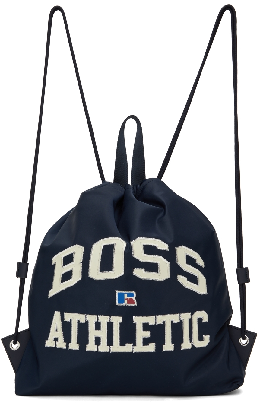 Navy Russell Athletic Edition Drawstring Backpack