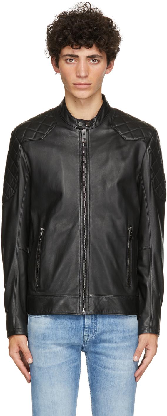 Black Leather Jador Jacket