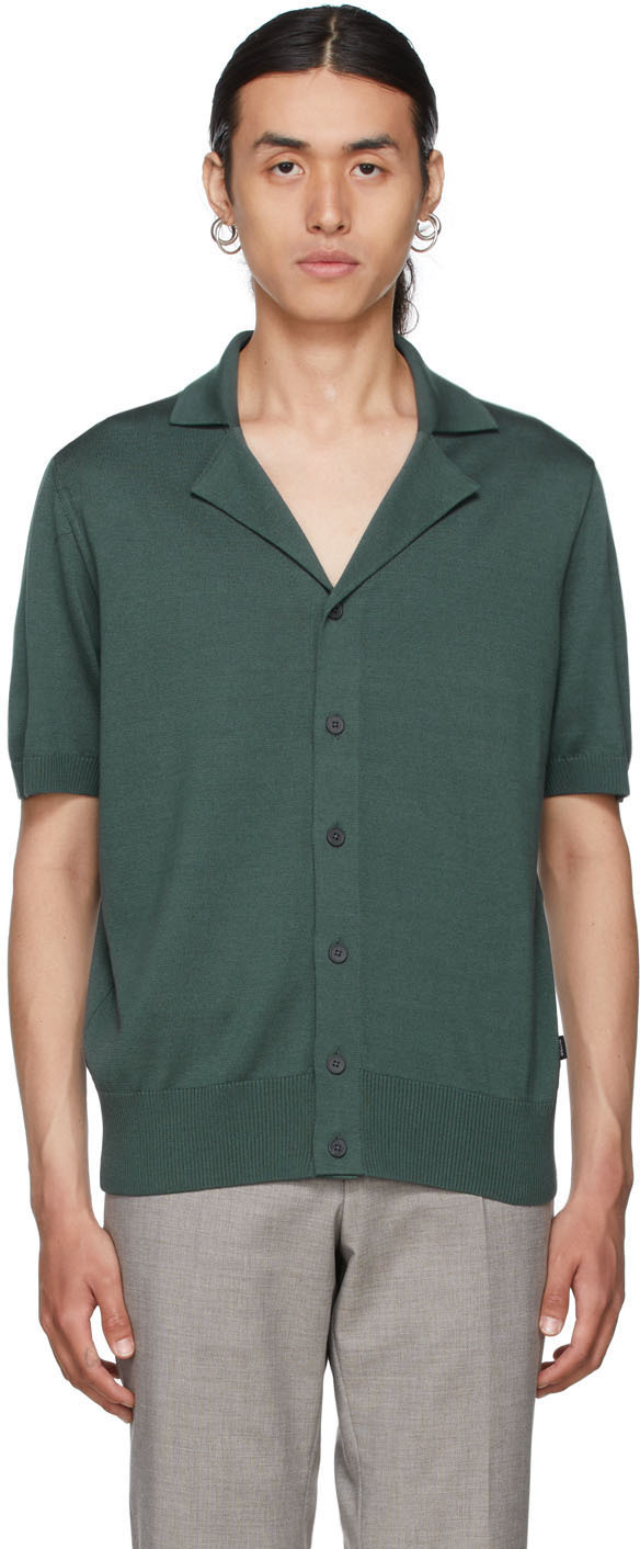 Green Hemilio Short Sleeve Cardigan