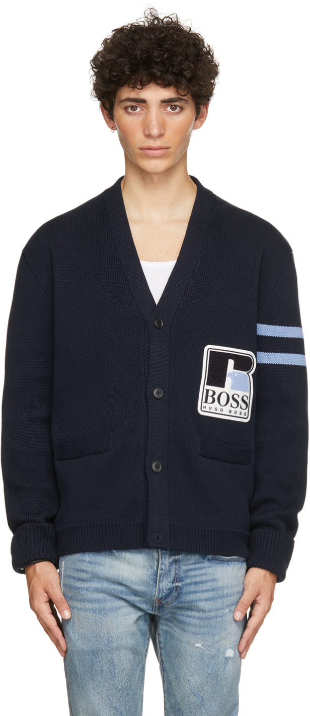 Navy Russell Athletic Edition Krussel Cardigan