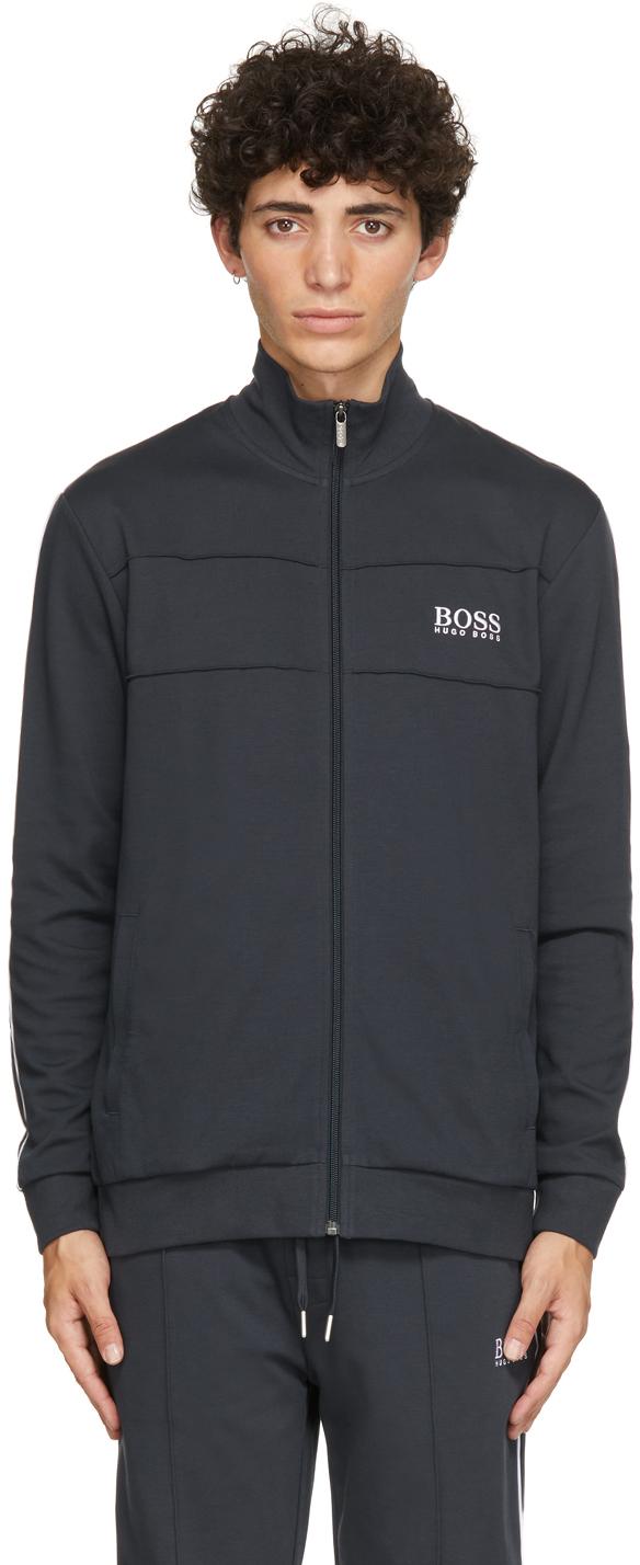 Navy Tracksuit Zip-Up Sweater