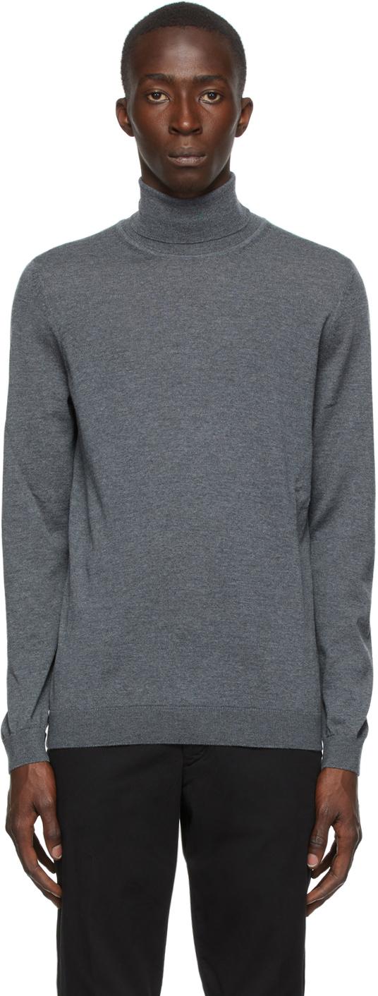 Grey Wool Musso-P Turtleneck