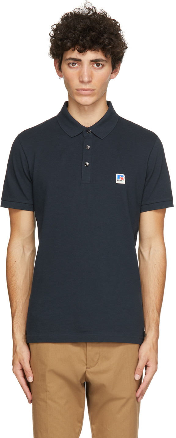 Navy Russell Athletic Edition Petroc Polo