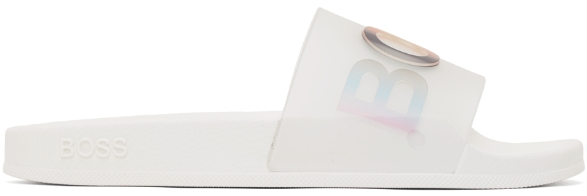 White & Multicolor Bay Slides