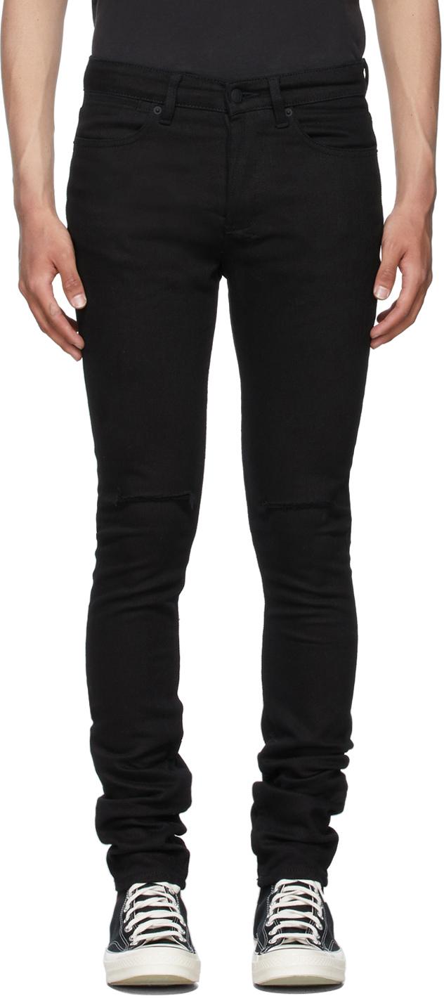 Black Ripped Van Winkle Jeans