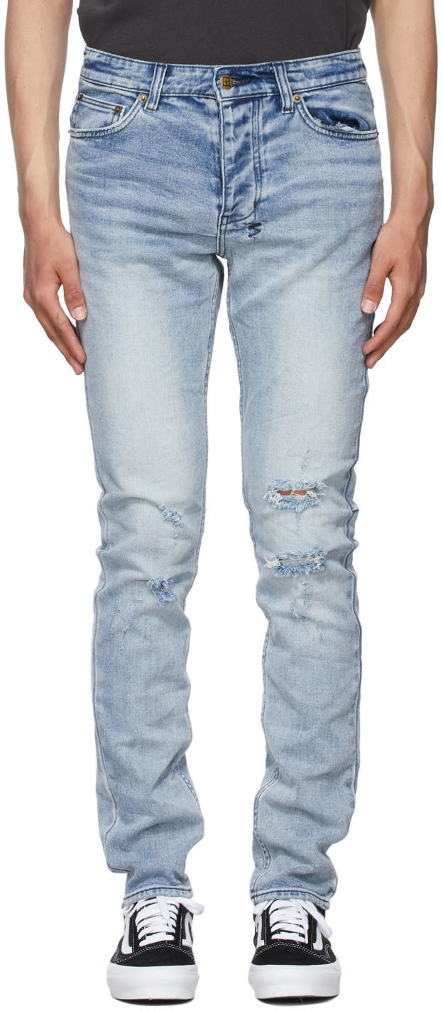 Blue Distressed Chitch Jeans