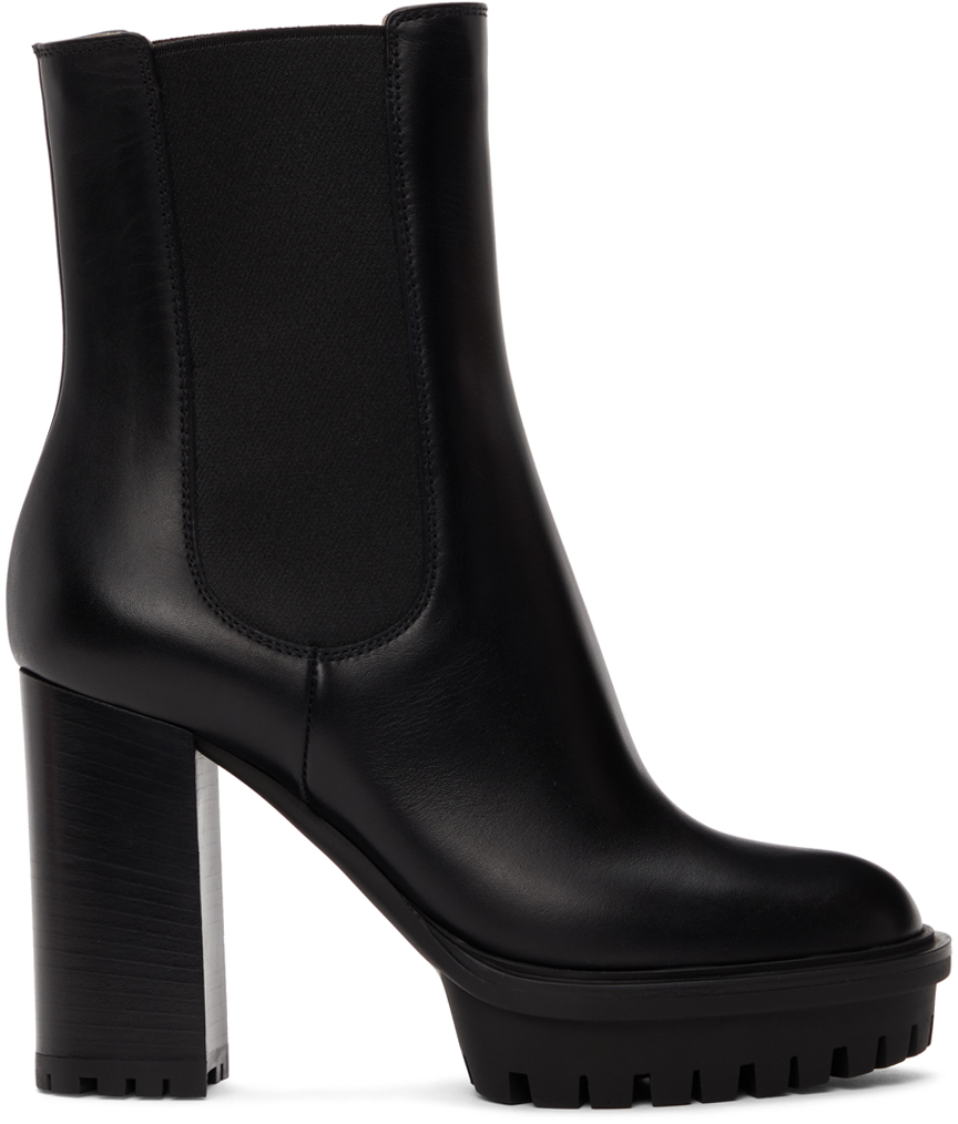 Black Chester Heeled Boots