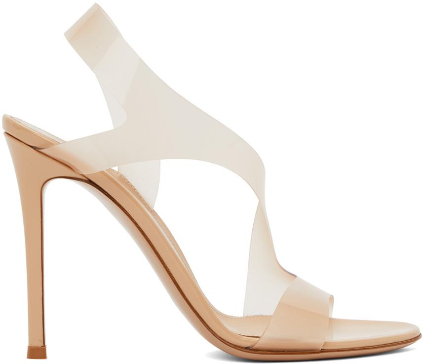 Beige Metropolis 105 Heeled Sandals