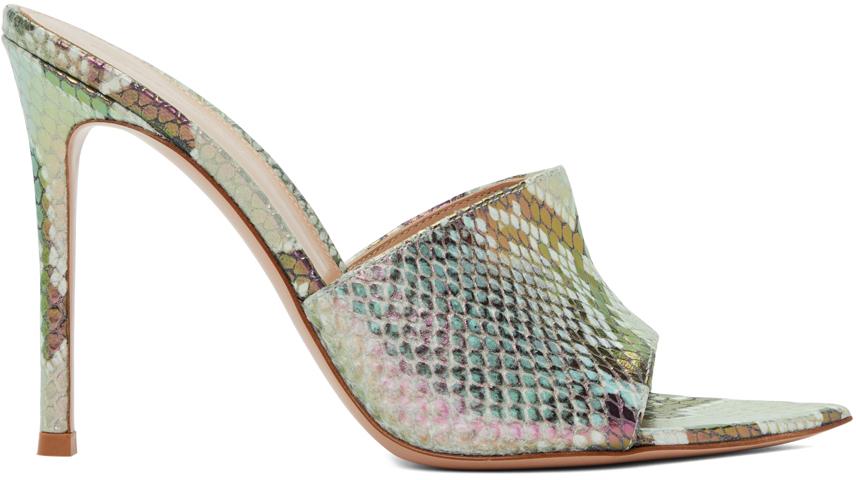 Multicolor Hologram Alise 105 Heeled Sandals
