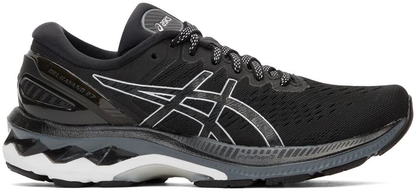 Black & Silver Gel-Kayano 27 Sneakers