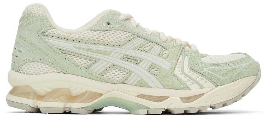 Green & Off-White Gel-Kayano 14 Sneakers