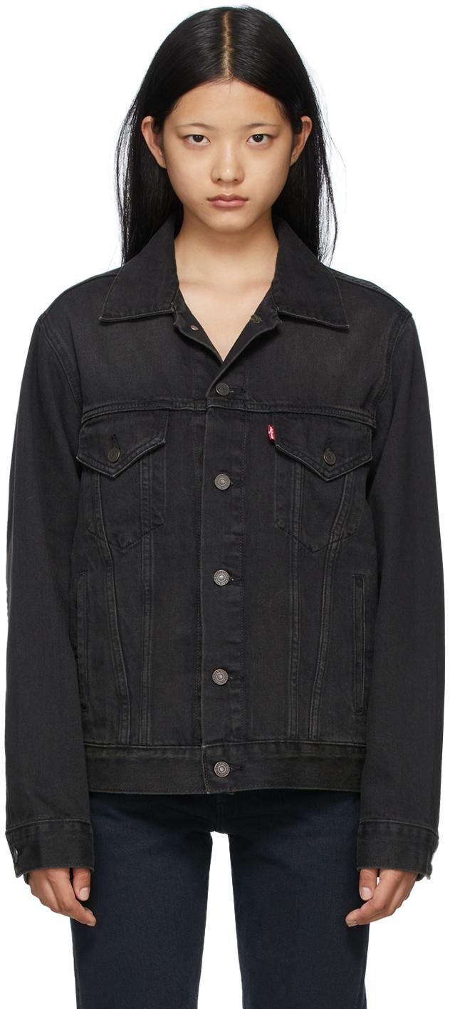 Levi's Grey Denim Vintage Fit Trucker Jacket