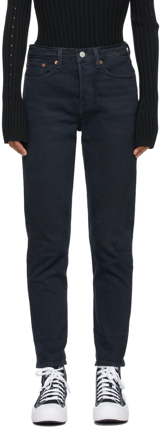 Levi's Navy Wedgie Icon Jeans