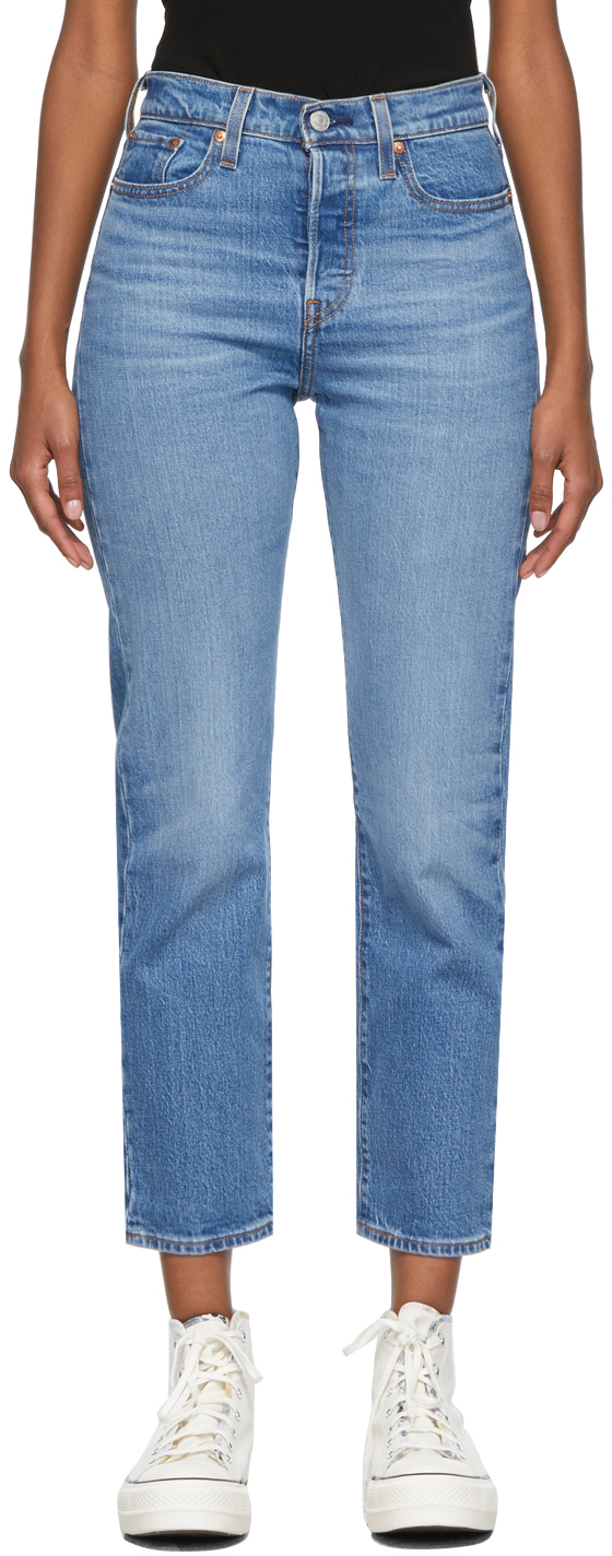 Levi's Blue Wedgie-Fit Straight Jeans