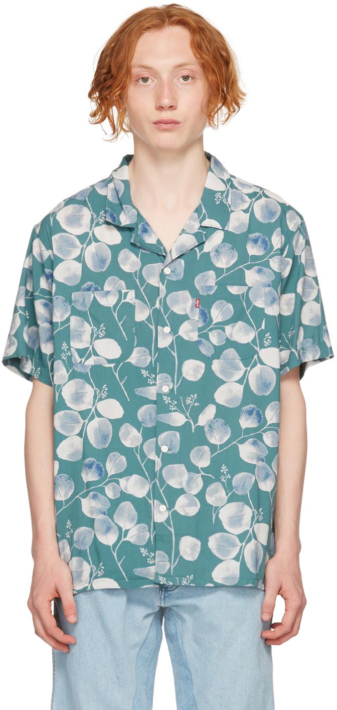 Levi's Blue Graphic Camper Short Sleeve Shirt