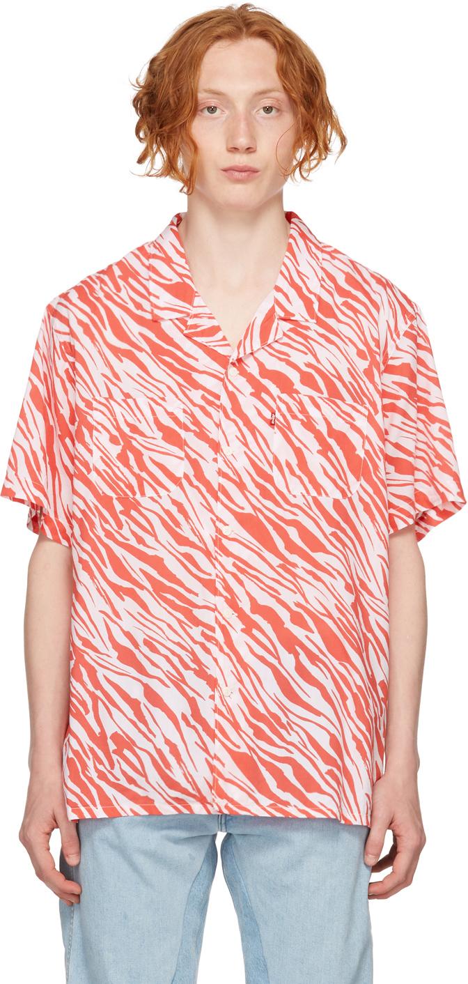 Levi's Red & White Stripe Short Sleeve Shirt