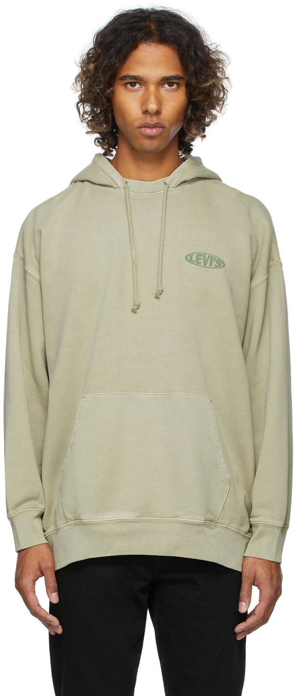 Levi's Khaki Split Collar Hoodie