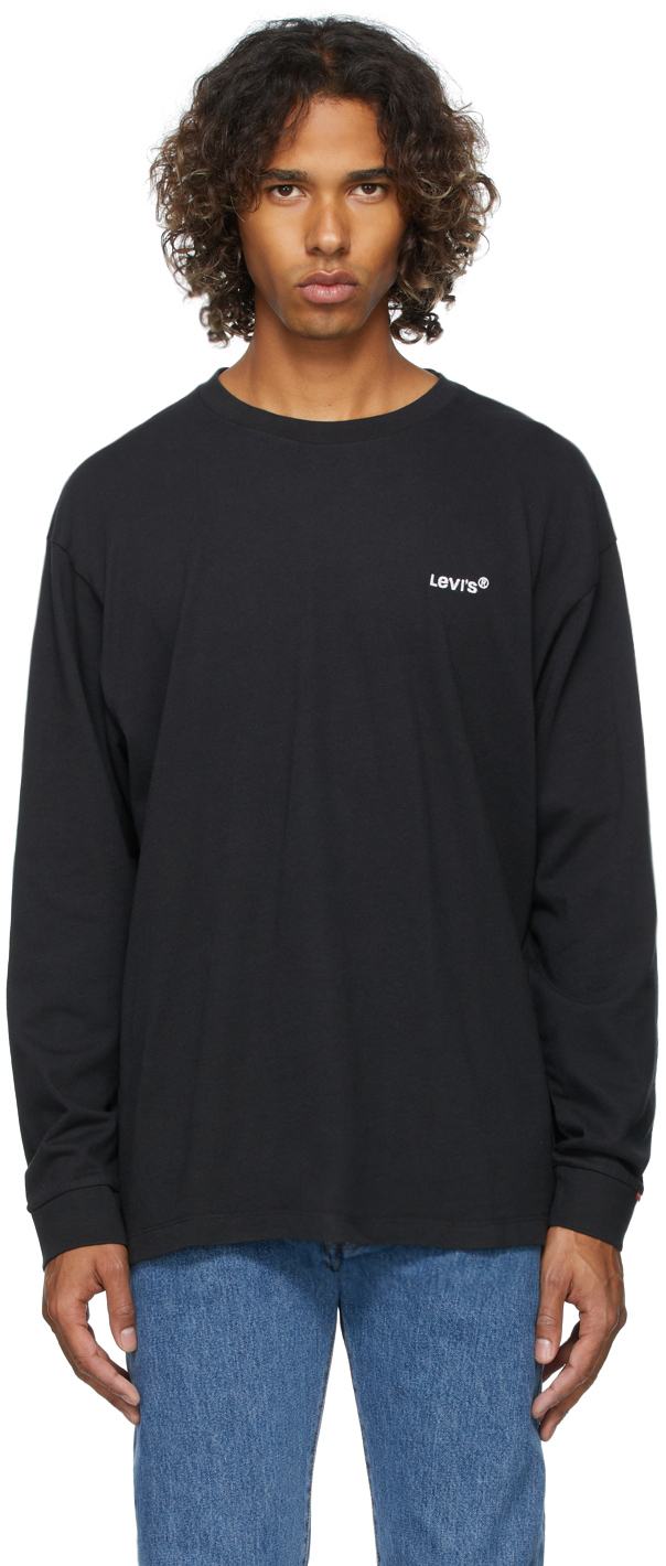 Levi's Black Logo Red Tab Long Sleeve T-Shirt