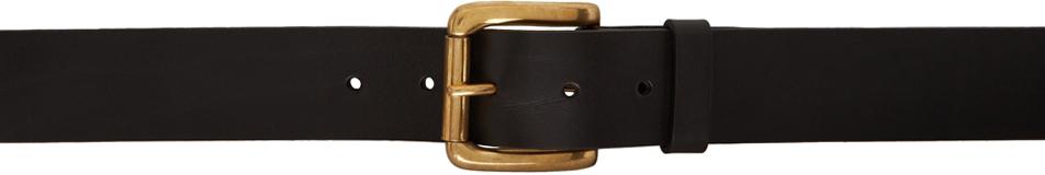 Black Thin Collage Belt