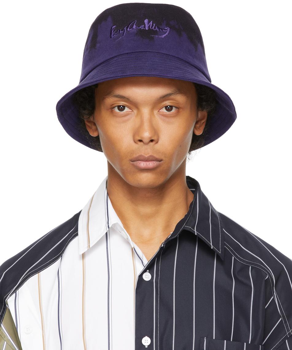Purple & Black Tie Dye Bucket Hat