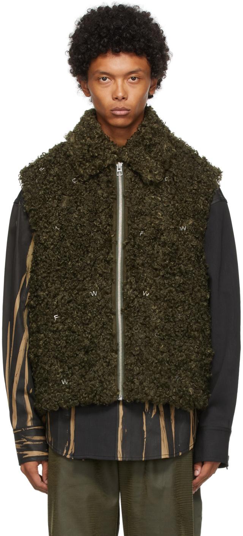 Khaki Faux-Fur Vest
