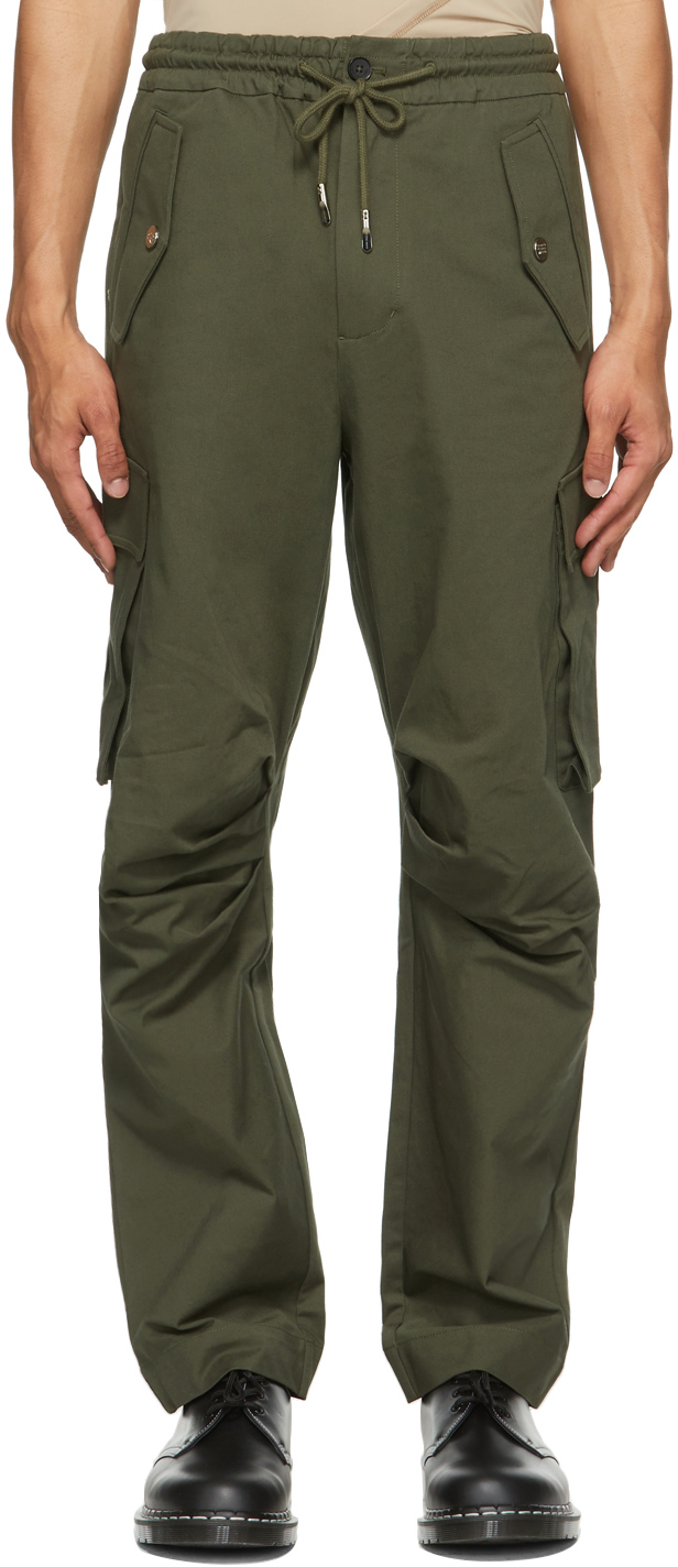 SSENSE Exclusive Green Cotton Cargo Pants