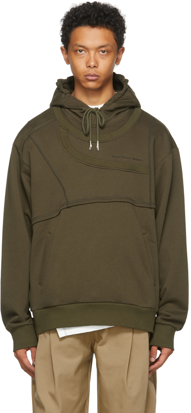 SSENSE Exclusive Green French Terry Paneled Hoodie