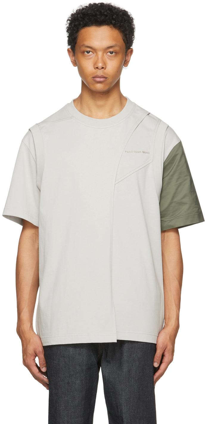 SSENSE Exclusive Grey Paneled T-Shirt