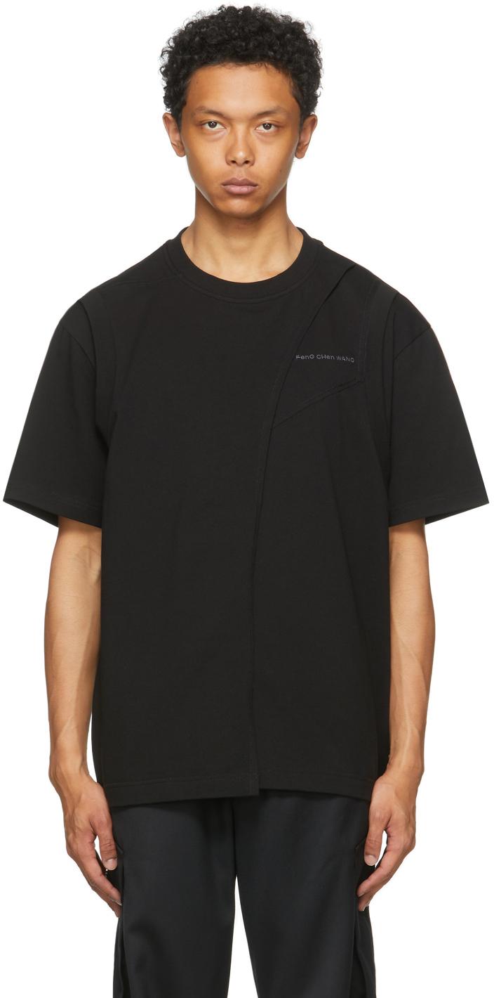 SSENSE Exclusive Black Paneled T-Shirt
