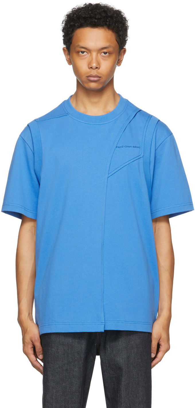 SSENSE Exclusive Blue Paneled T-Shirt