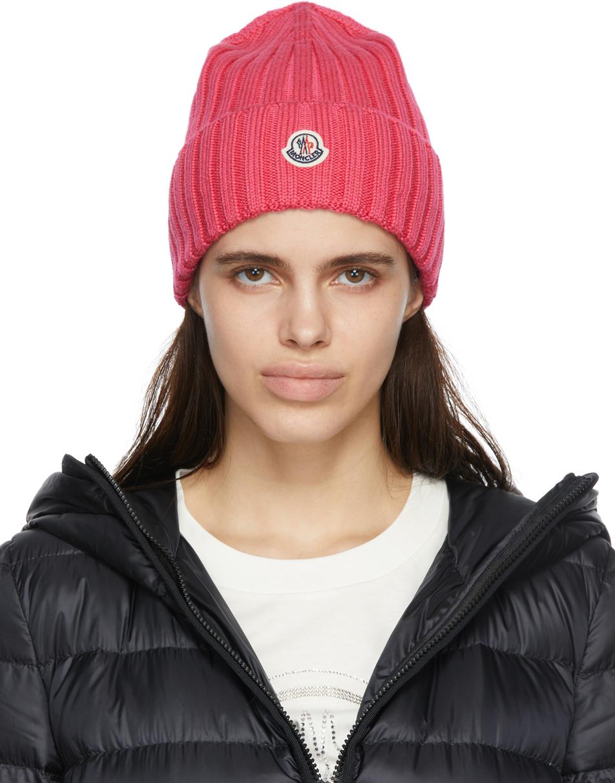 Moncler Pink Wool Beanie