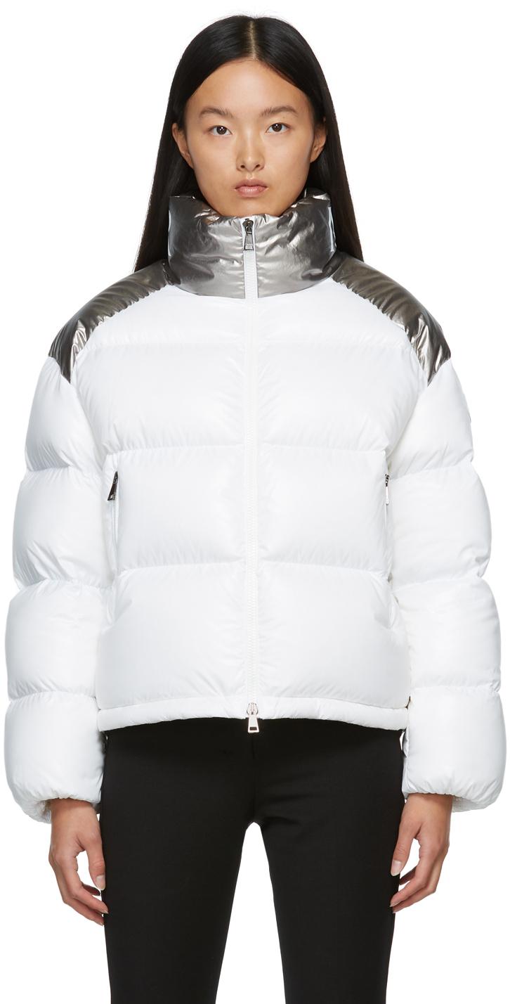 Moncler White & Silver Down Cuscute Jacket