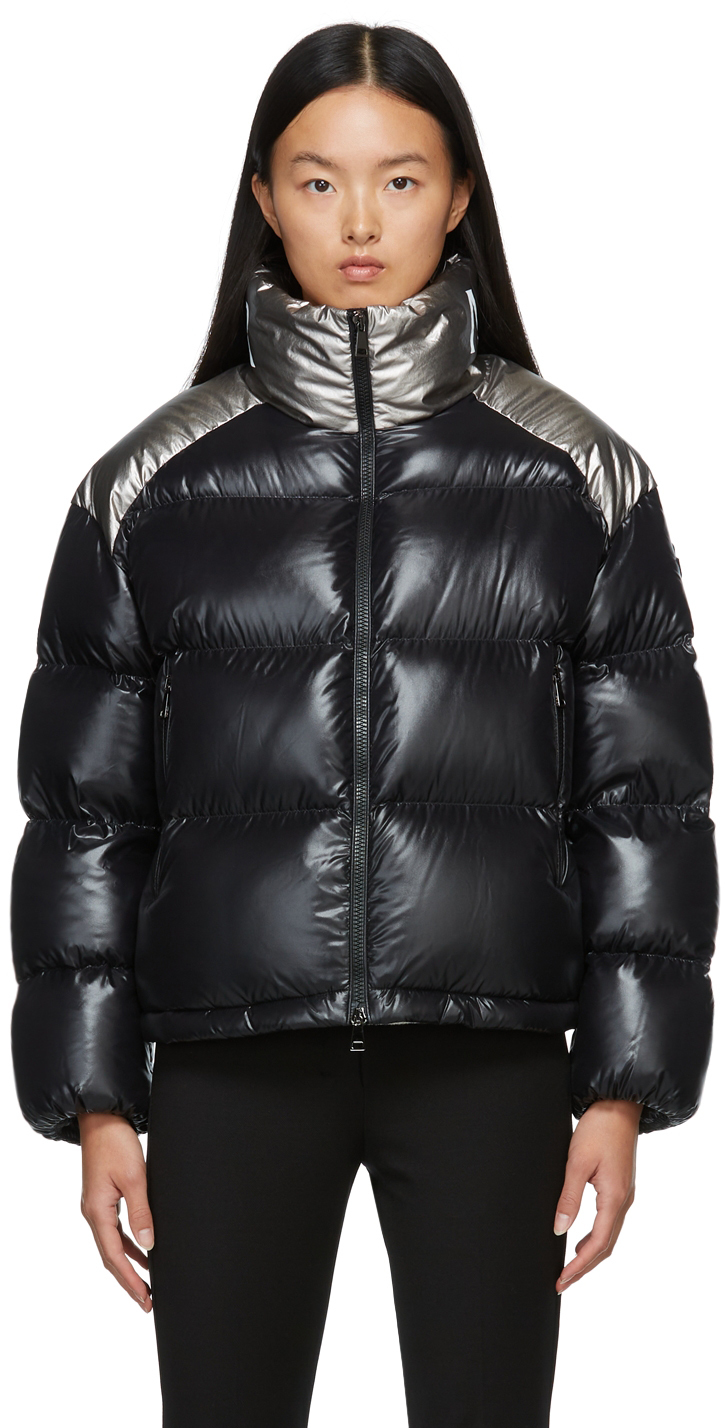 Black & Silver Down Cuscute Jacket